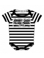 Johnny Cash romper baby Folsom stripes (Clothing)