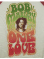 "Bob Marley Kids Longsleeve shirt girly ""One Love"" close-up"
