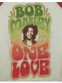 "Bob Marley Kids Longsleeve shirt girly ""One Love"" close-up"
