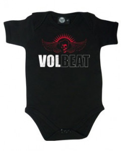 Volbeat stoer rock rompertje voor baby's Skull Wing (Clothing)