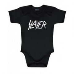 Slayer Baby Romper Logo White | Metal Kids and Baby collection