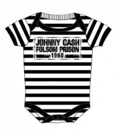Johnny Cash romper baby Folsom stripes (Clothing)