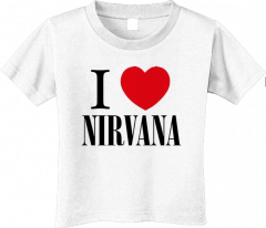 Nirvana stoer kinder T-shirt - I love Nirvana (Clothing)