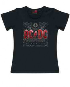 AC/DC Kids Girlie T-shirt Black Ice