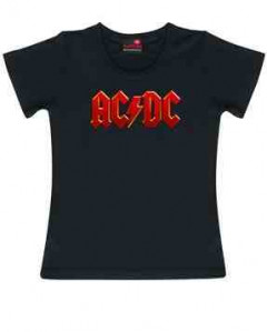 AC/DC Kids Girlie T-shirt Colour Logo