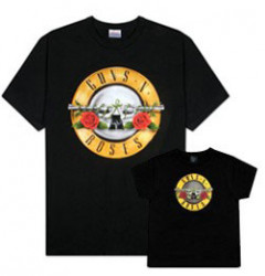 Set Guns 'n Roses papa t-shirt & kinder t-shirt