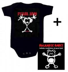 Cadeauset Pearl Jam Baby Romper Stickman & Pearl Jam CD