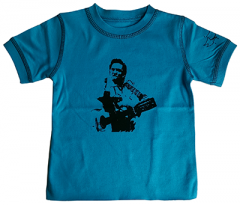 Johnny Cash kids T-shirt Blue