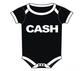 Johnny Cash Baby romper Logo Block