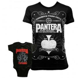 Duo Rockset Pantera mama t-shirt & Pantera baby romper