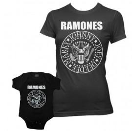 Duo Rockset Ramones mama t-shirt & Ramones baby romper