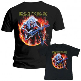 Duo Rockset Iron Maiden papa t-shirt & Iron Maiden kinder t-shirt