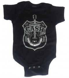 Johnny Cash Baby romper Guitar Shield