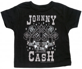 Johnny Cash Baby T-shirt Guns