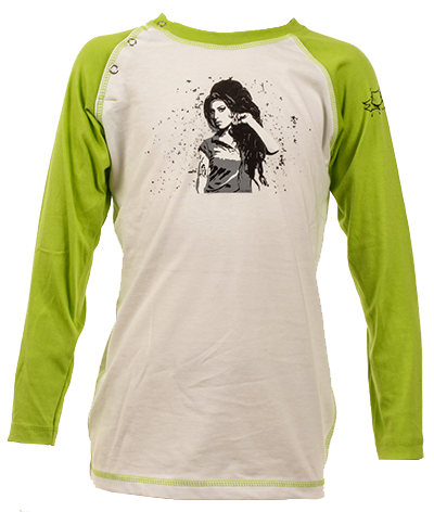 Amy Winehouse kinder Baseball Longsleeve