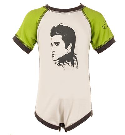 Elvis Baby Body Green/White