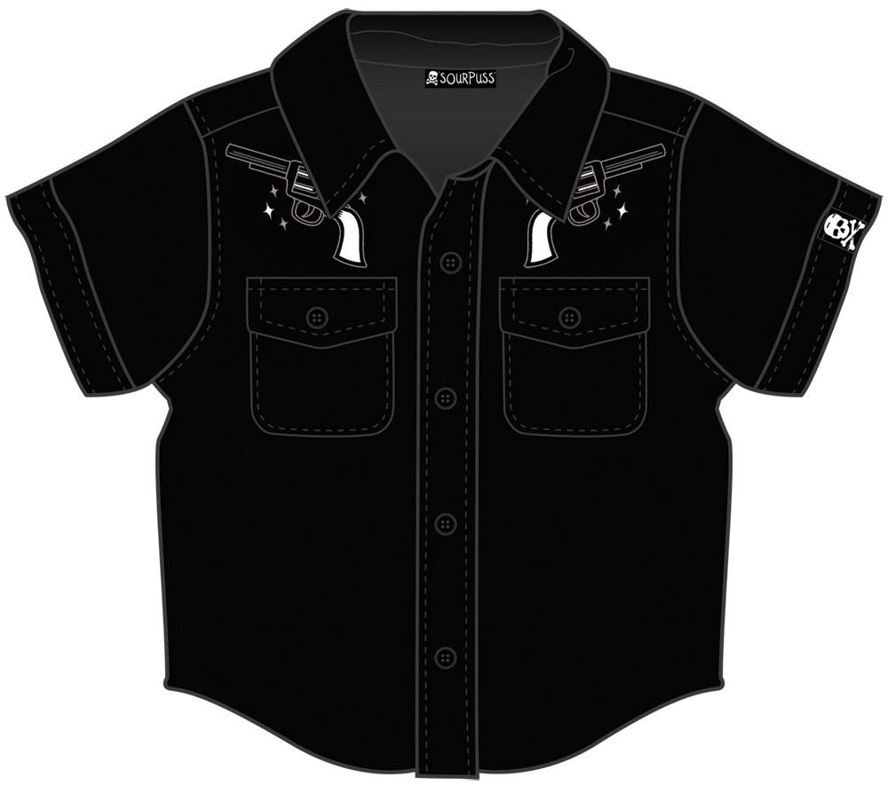 Johnny Cash Kids blouse/button up Guns