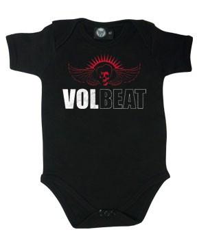 Volbeat stoer rock rompertje voor baby's Skull Wing (Clothing)