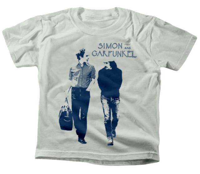 Simon and Garfunkel kinder T-shirt Walking