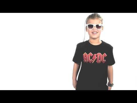 ACDC kinder T-Shirt Logo colour – Metal kinder