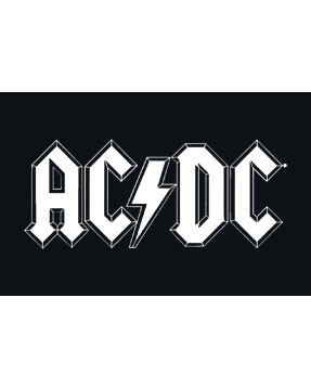 ACDC kinder T-Shirt Logo white – METAL kinder