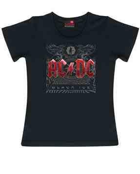 AC/DC Kids Girlie T-shirt Black Ice