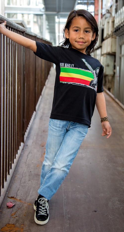 Bob Marley Kids T-shirt Stripe kinderkleding fotoshoot