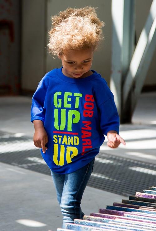 Bob Marley Kids T-shirt Get Up fotoshoot