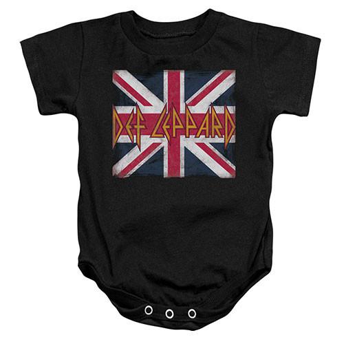 Def Leppard baby romper Lil Union Jack