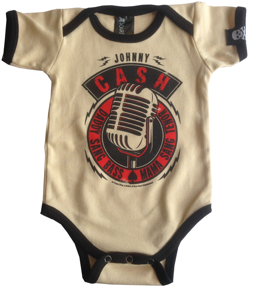 Johnny Cash baby romper Daddy Sang Bass