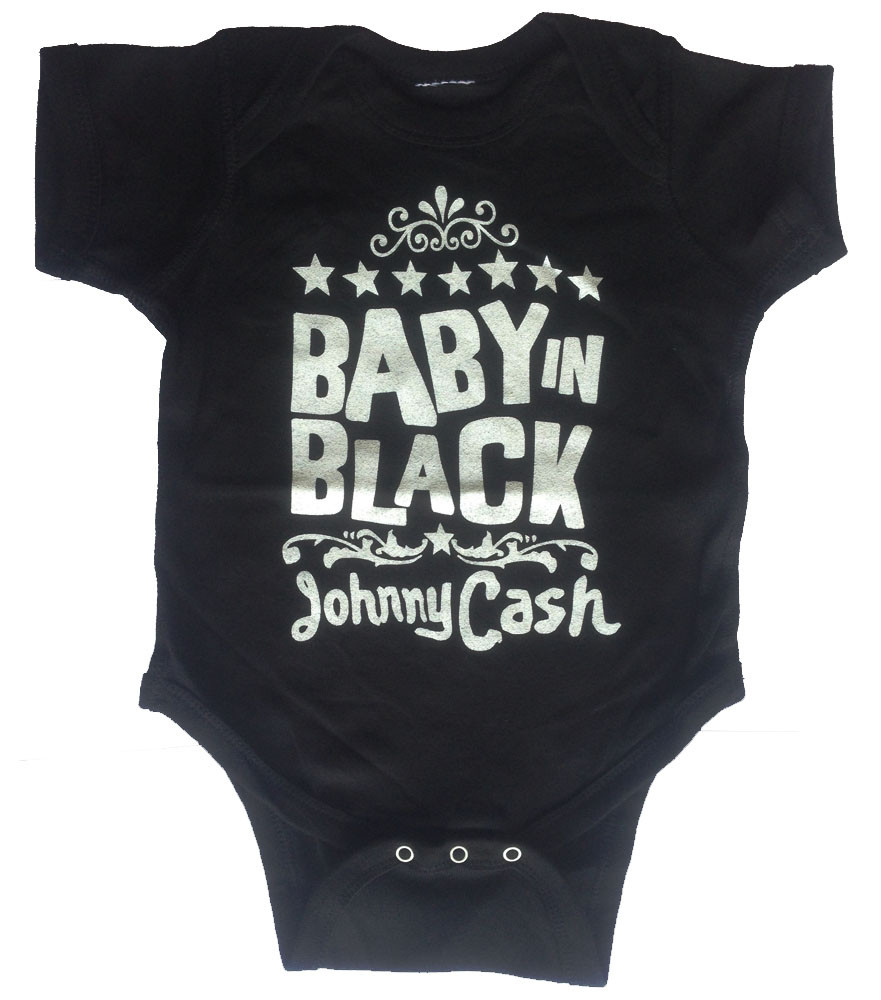 Johnny Cash Baby romper Baby In Black