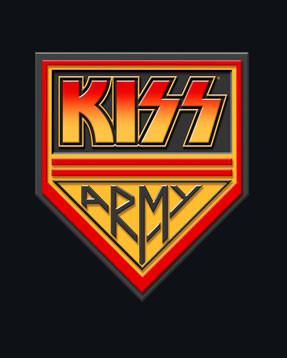 Kiss Baby T-shirt Army