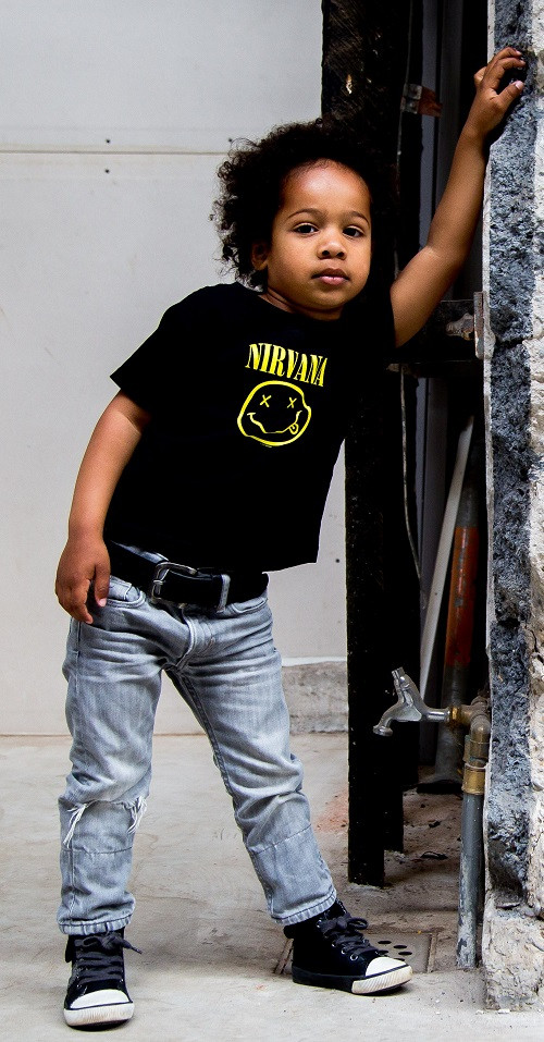 Nirvana kinder t-shirt Smiley fotoshoot