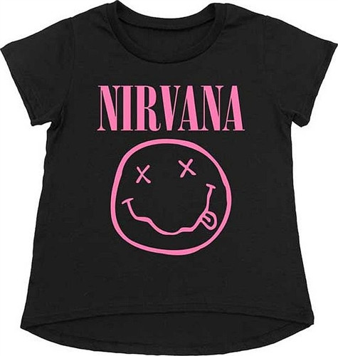 Nirvana T-Shirt Kids Smiley Pink