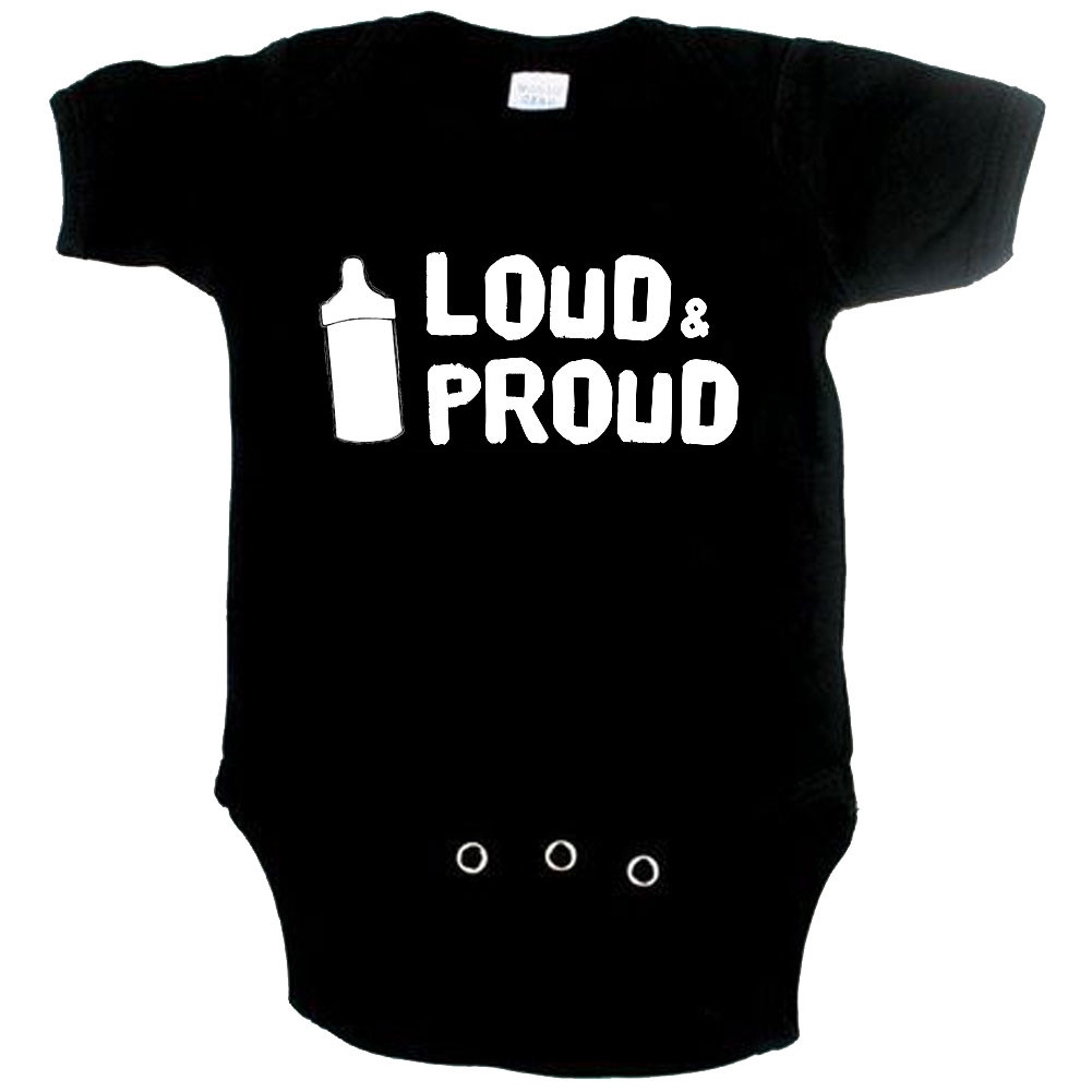 stoere baby romper loud and proud