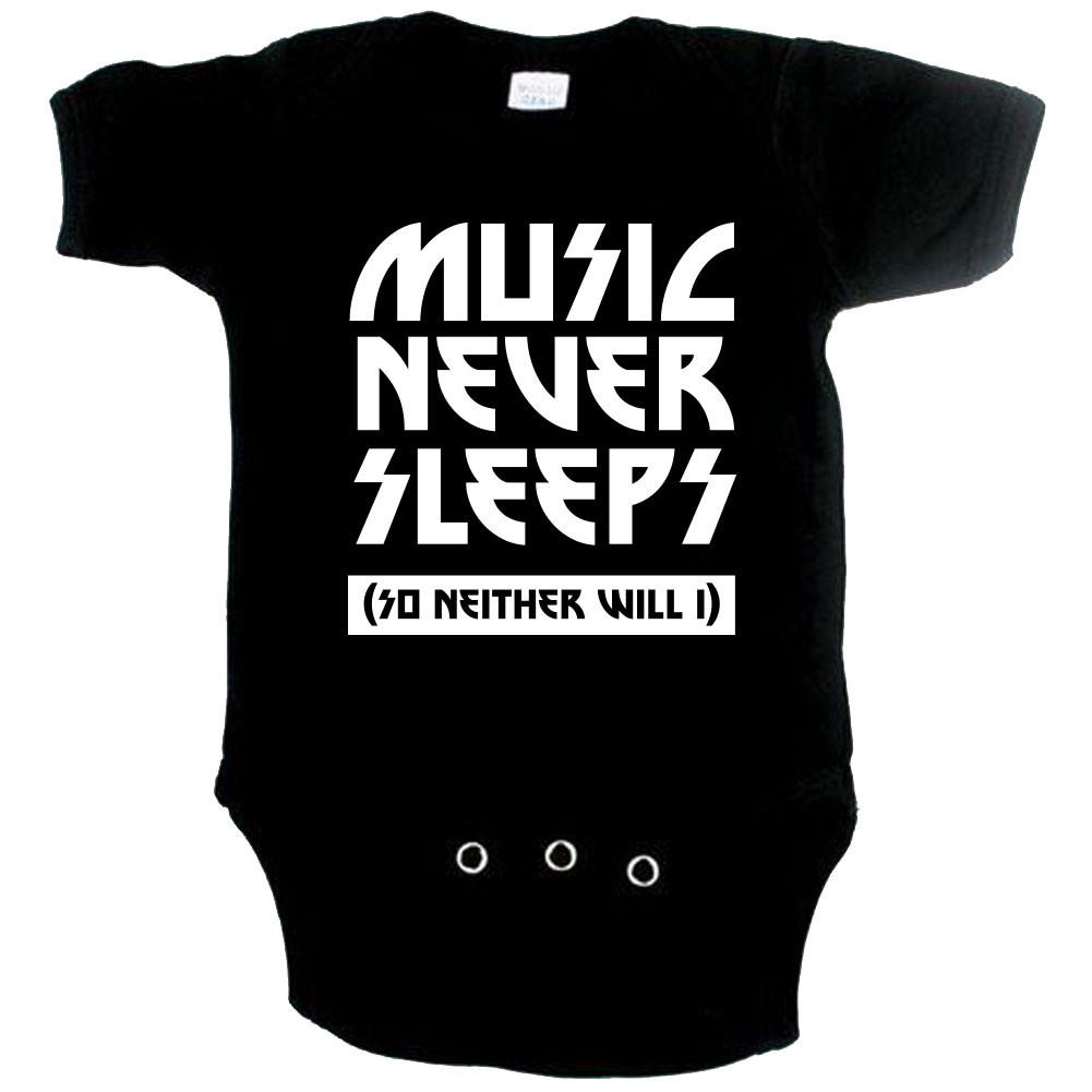 stoere baby romper music never sleeps so neither will I