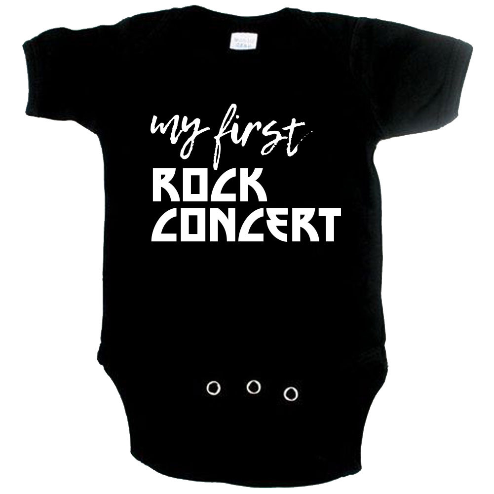 rock baby romper my first rock concert