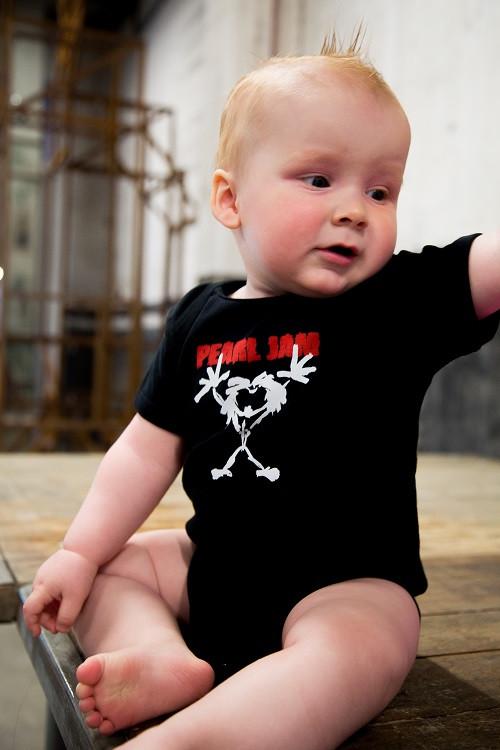 Pearl Jam baby romper Stickman fotoshoot