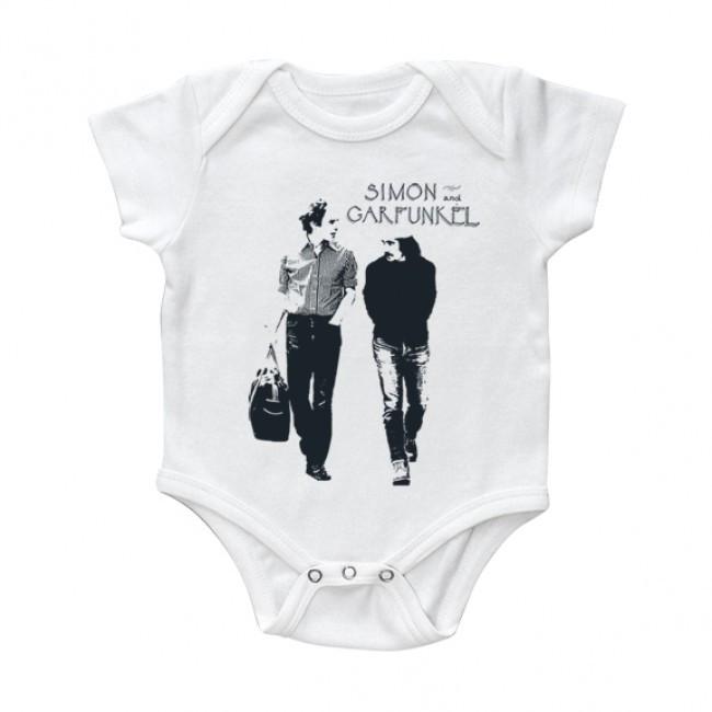 Simon & Garfunkel baby romper Walking White