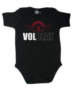 Volbeat romper baby Skull Wing – Metal romper babys