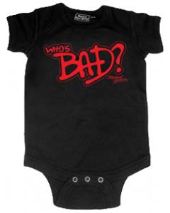 Michael Jackson romper baby Who's Bad