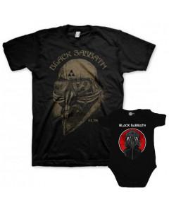 Duo Rockset Black Sabbath papa t-shirt & baby romper