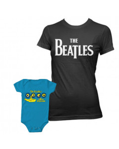 Duo set The Beatles mama t-shirt & baby romper Portholes