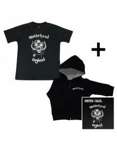 Cadeauset Motörhead Baby Hoody/vest & Baby t-shirt