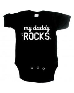 stoere baby romper my daddy rocks