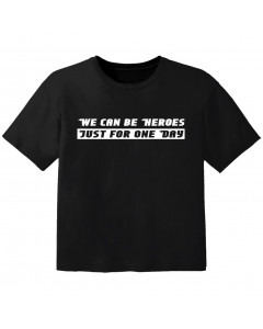 stoere kinder t-shirt we can be heroes just for one day
