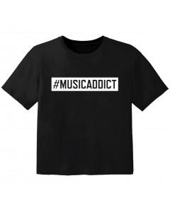 stoere kinder t-shirt #musicaddict